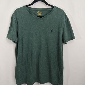 Polo Ralph Lauren green V neck t-shirt medium